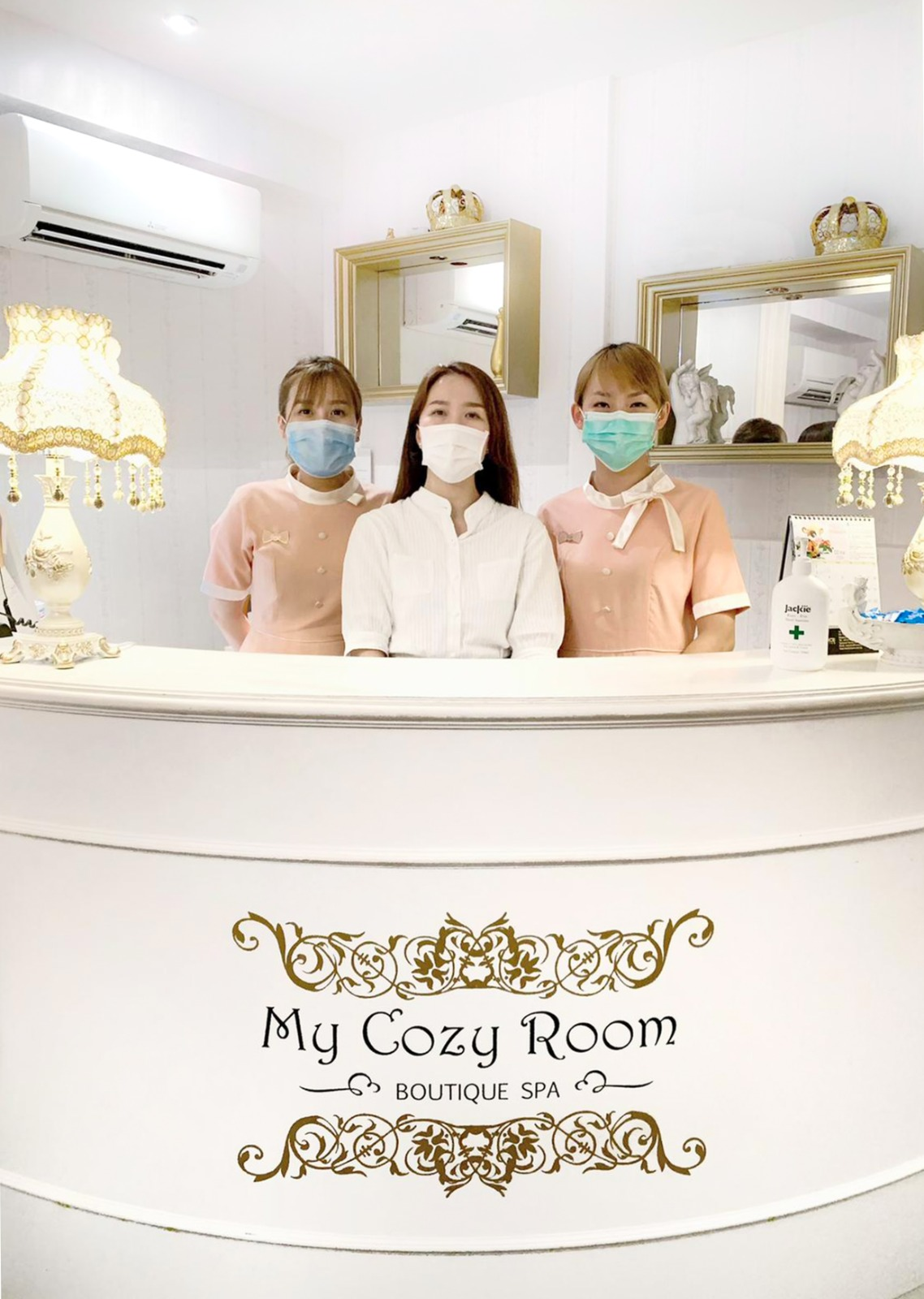 Surgical Mask in Facial Spa